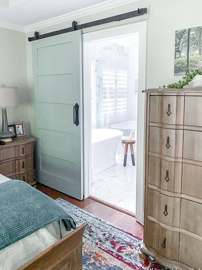 add a barn door to bathroom
