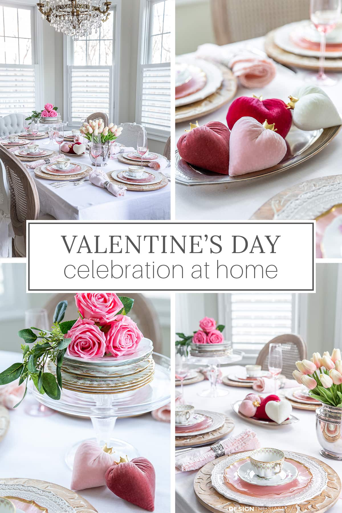 Valentines Day celebration at home