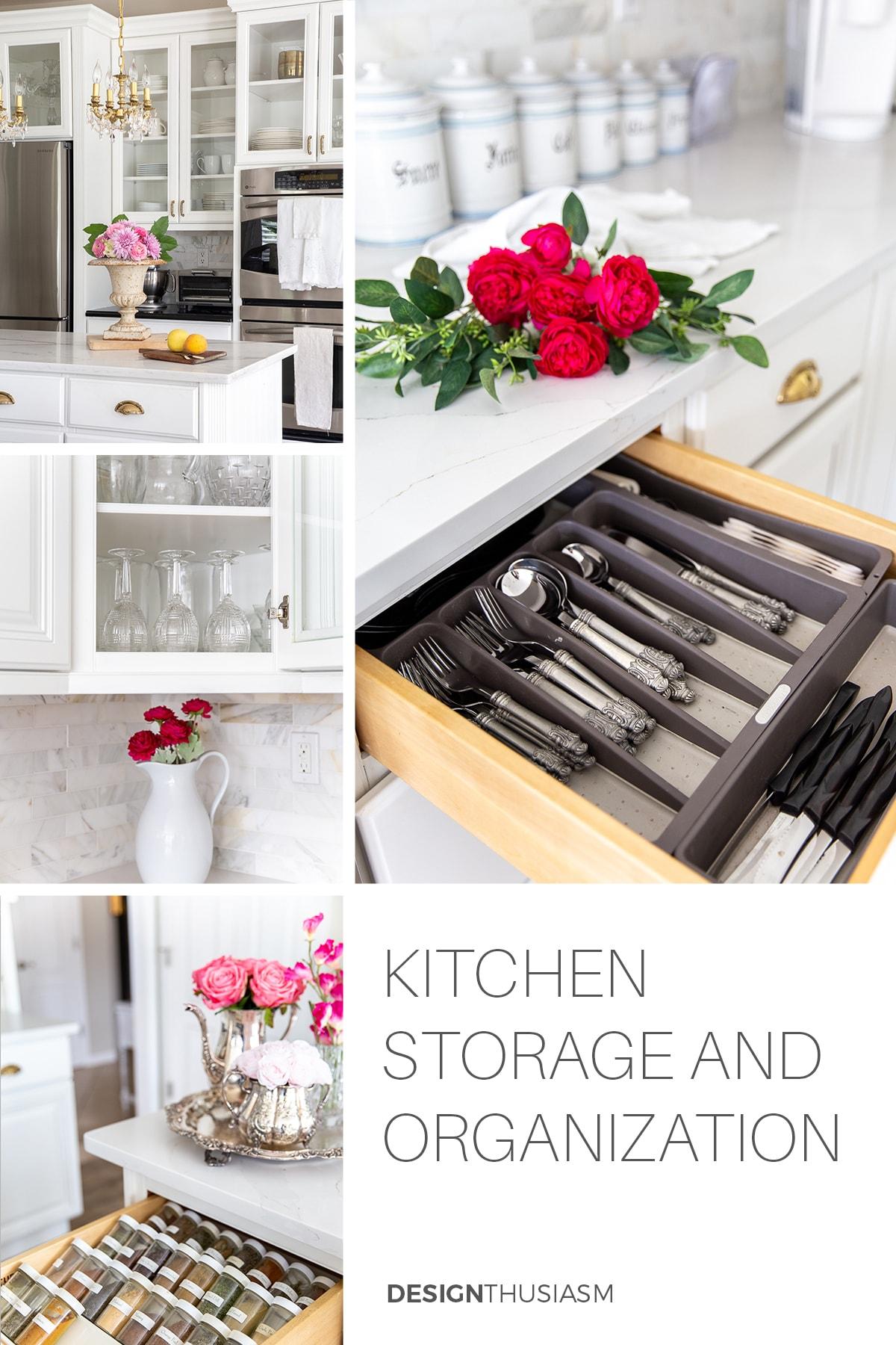 Organização e armazenamento de cozinha