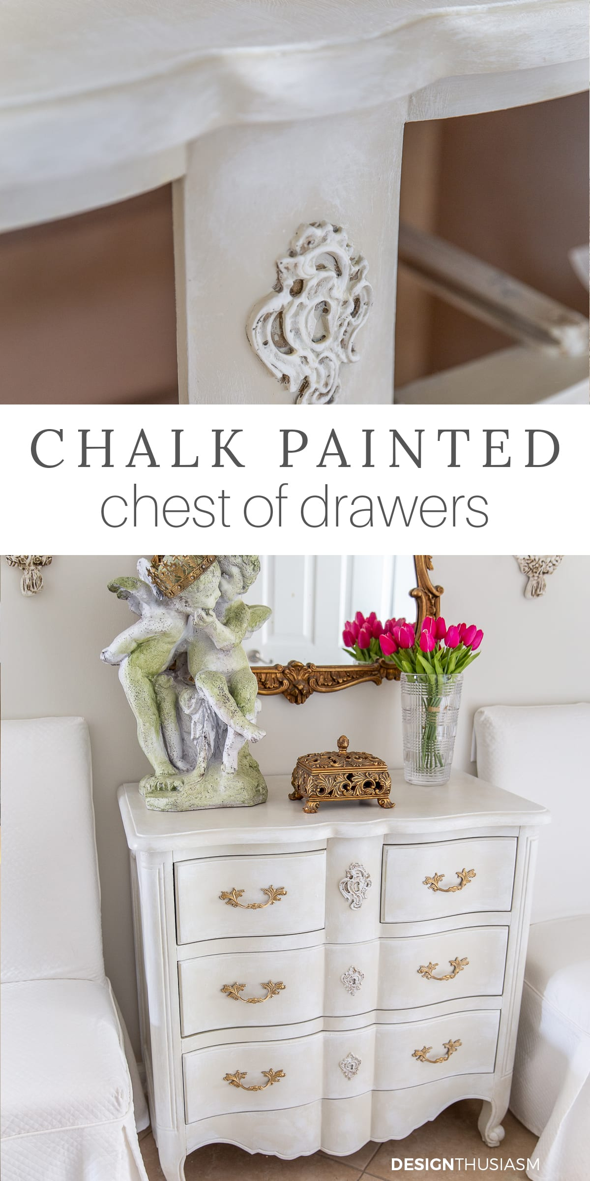 chalk painted chest of drawers