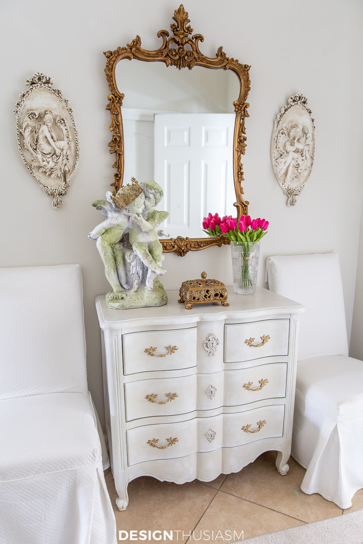 Chalk Painted Furniture: Upgrading a Painted Chest of Drawers