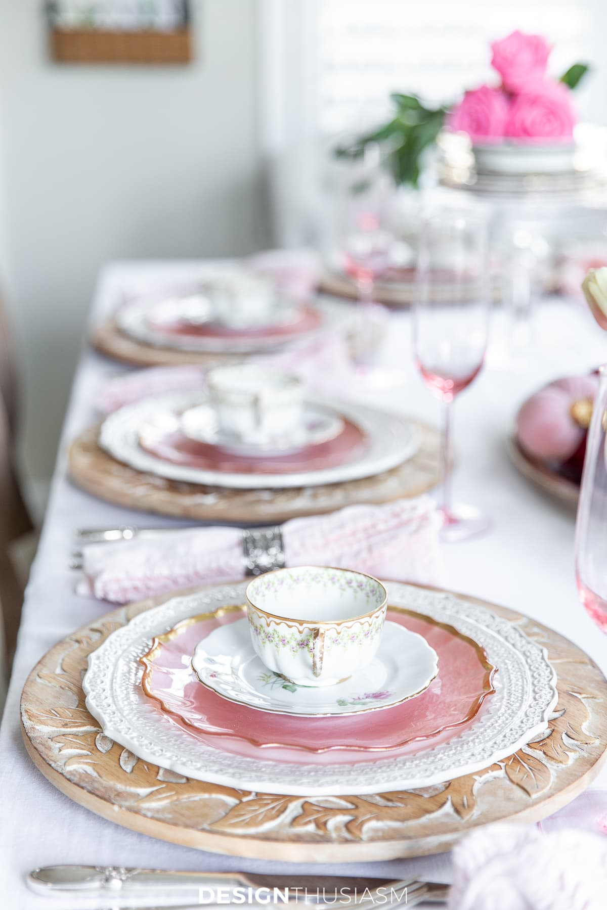 valentines day table place settings