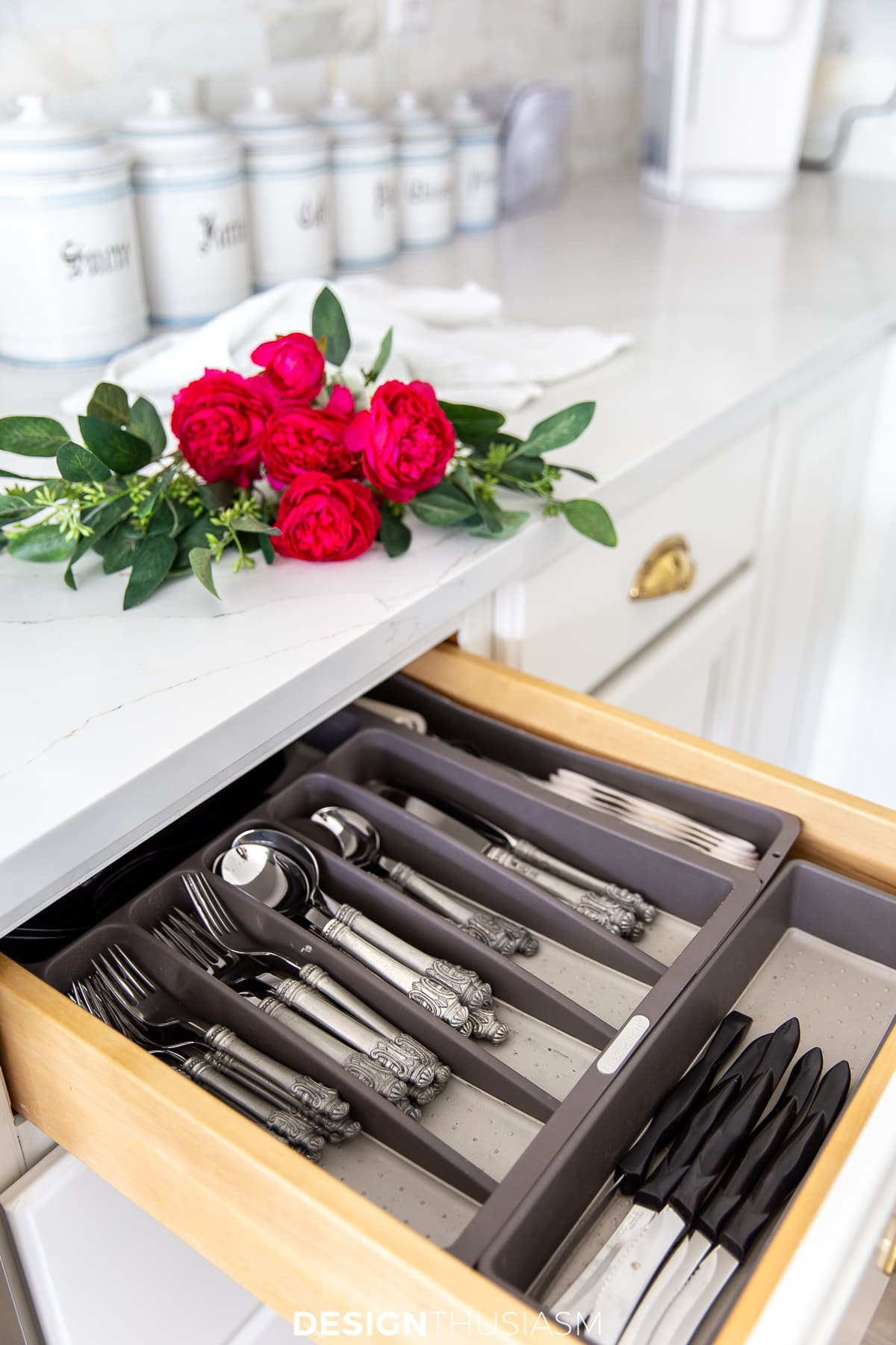 kitchen silverware organization