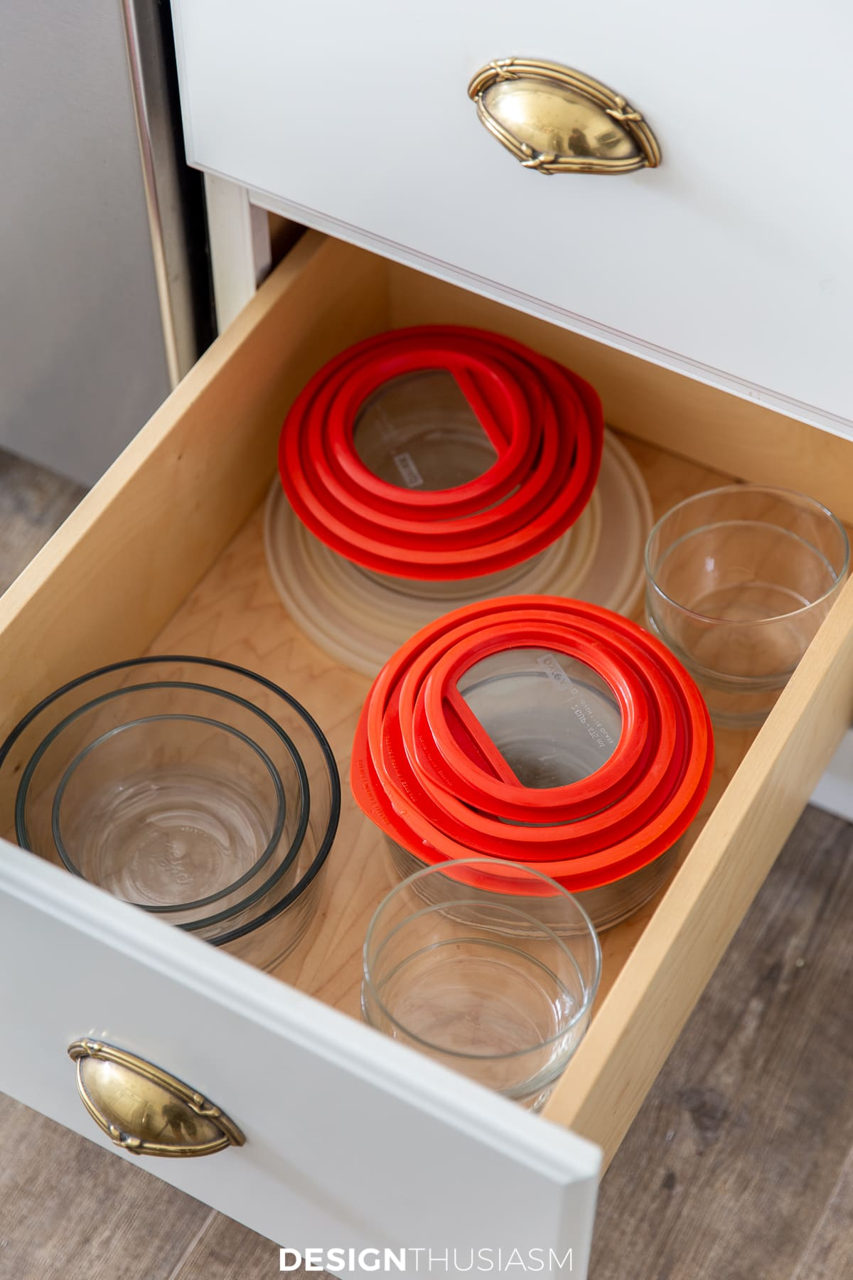 kitchen food container organization
