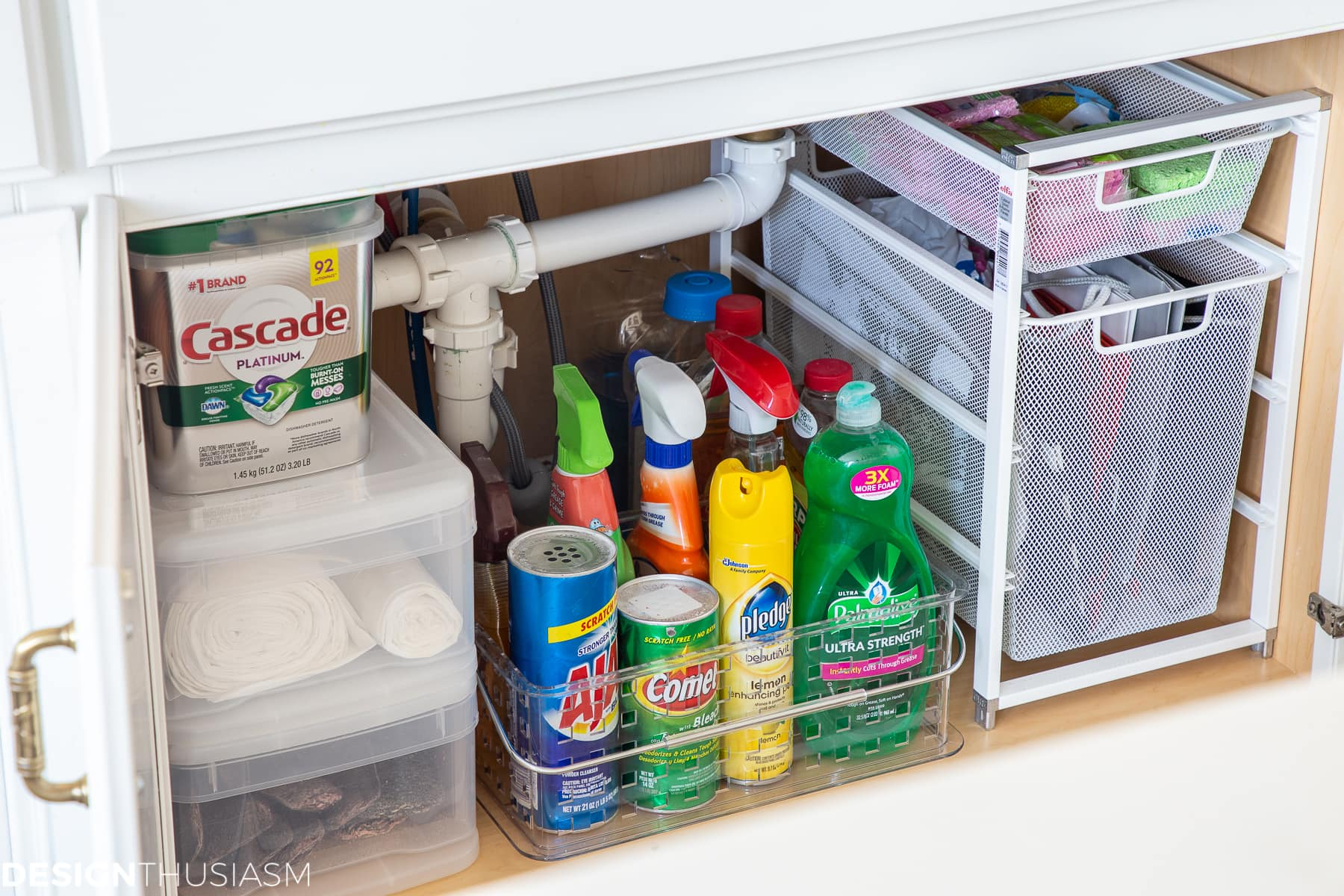 kitchen under sink organization