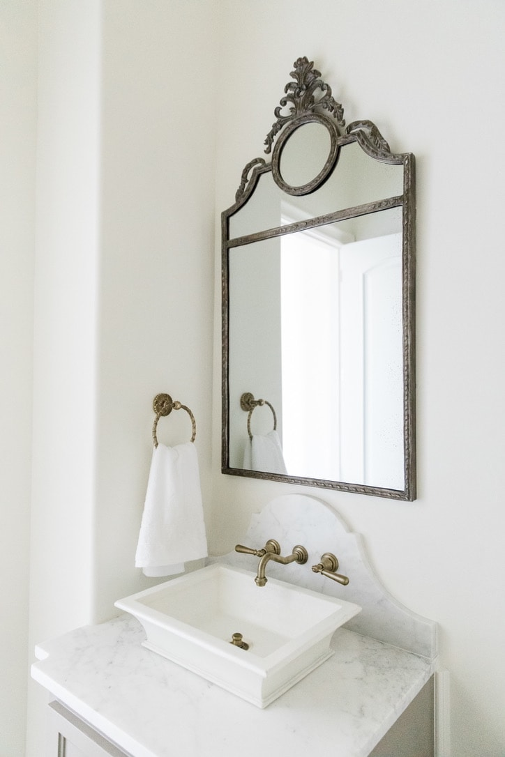 beautiful house tour powder room