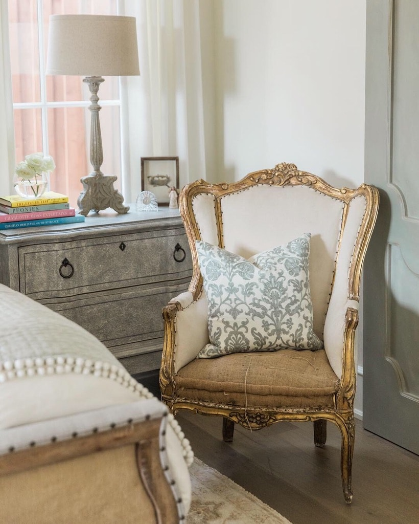 beautiful house tour french chair