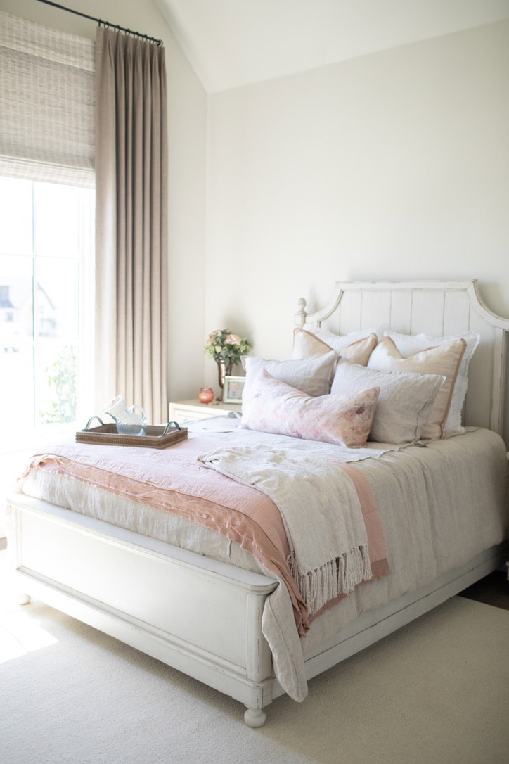 house tour pink bedroom