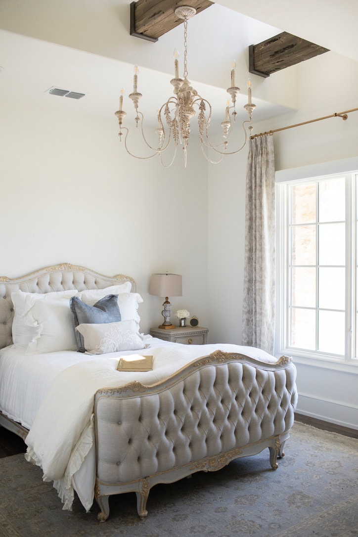 house tour tufted bed room