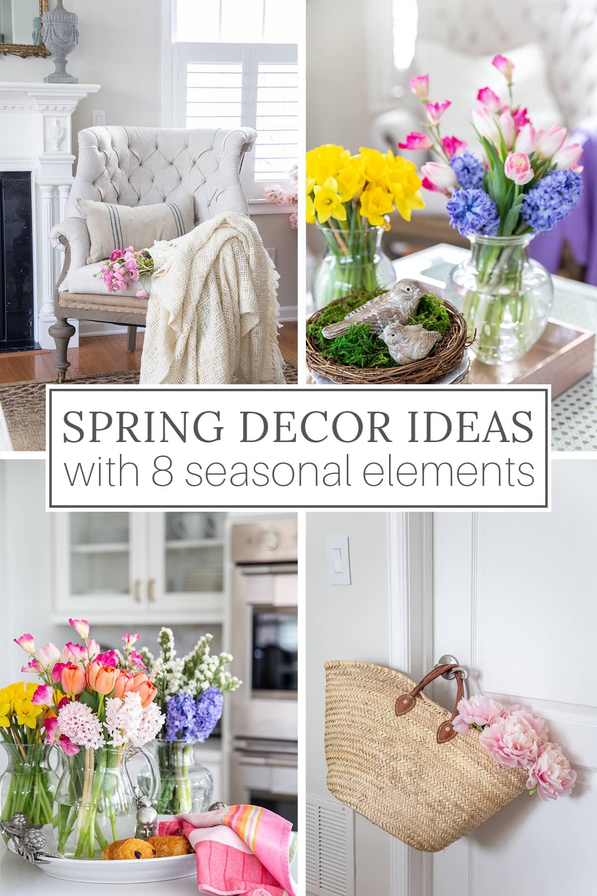 Idéias de decoração de primavera com 8 elementos de design