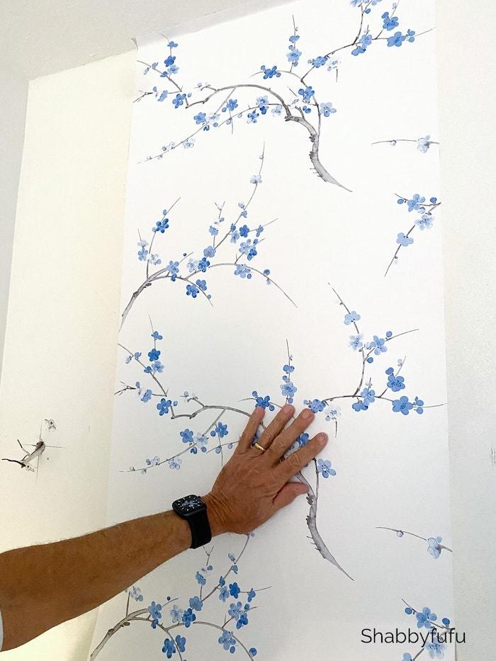 Shabbyfufu hang peel and stick wallpaper
