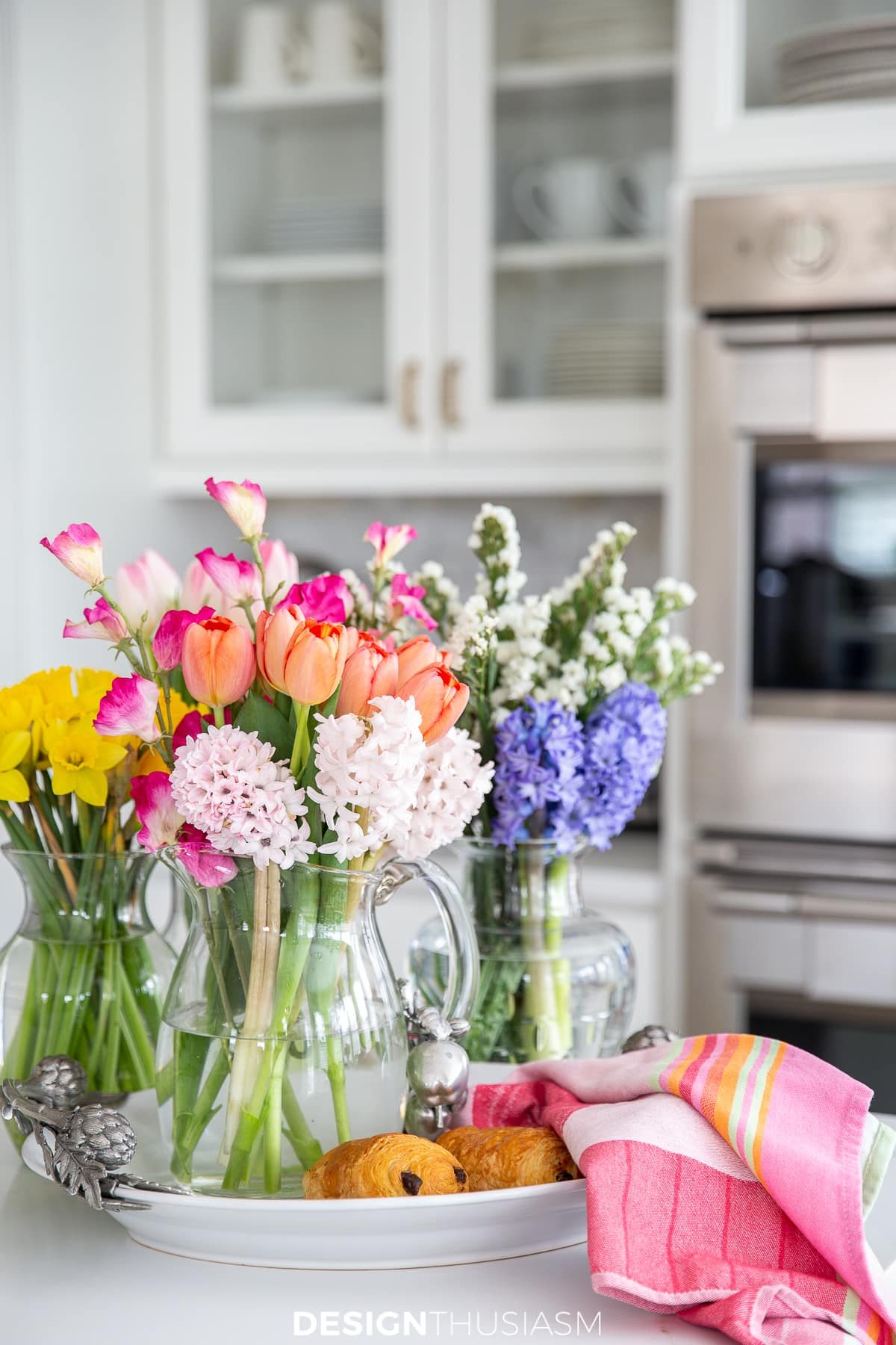 spring decor flowers