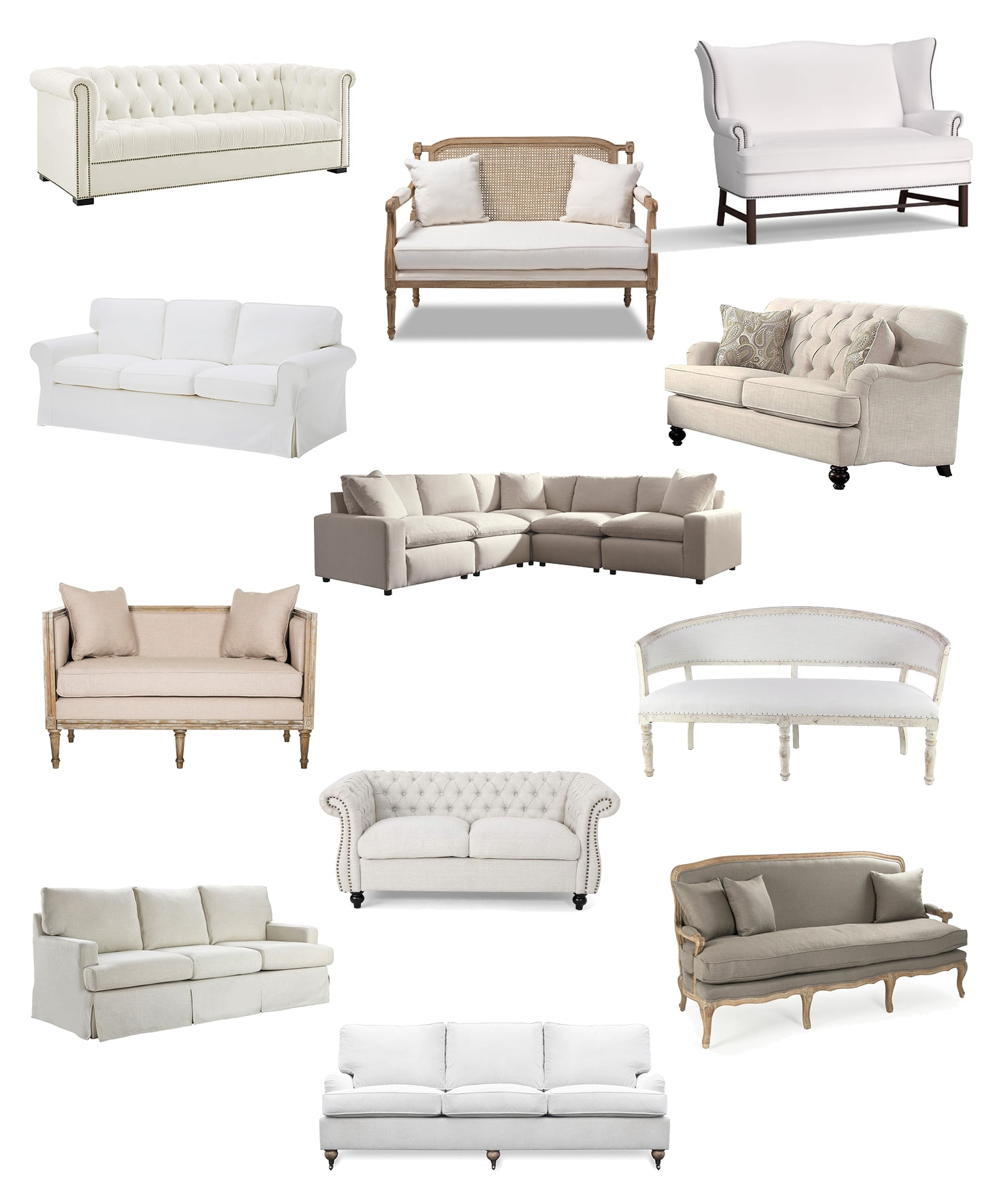 Living Room Sofa: Where to Buy a French Farmhouse Couch