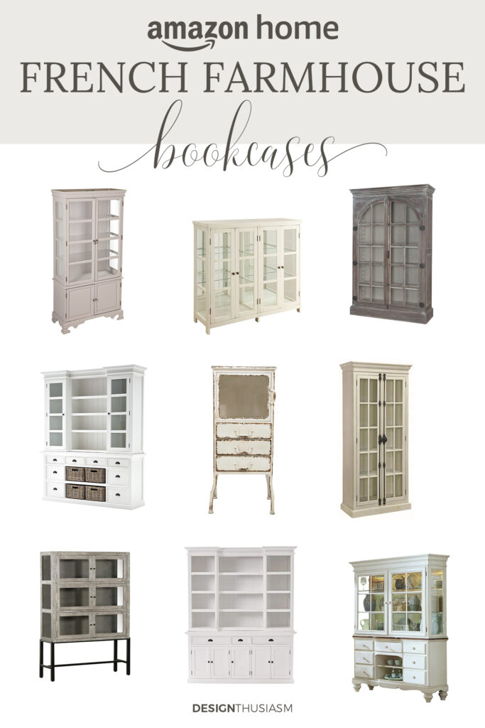 french farmhouse bookcases
