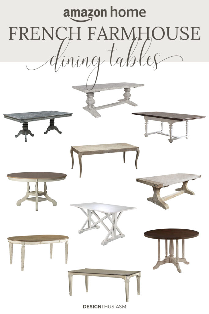 french farmhouse dining tables