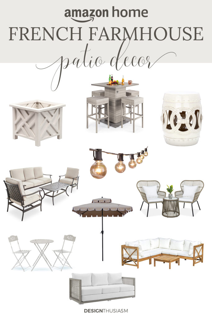 french farmhouse patio furniture