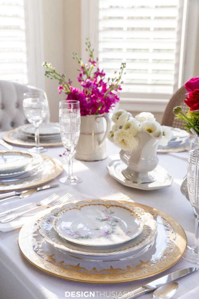 Mother's Day celebration table setting
