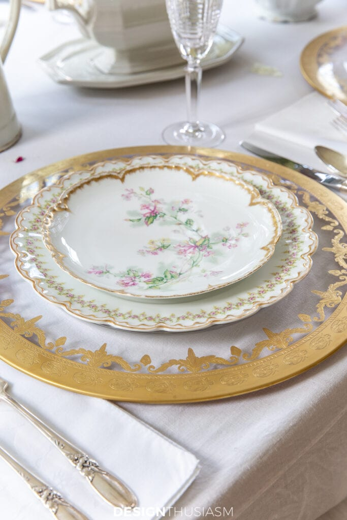 Mother's Day celebration place setting