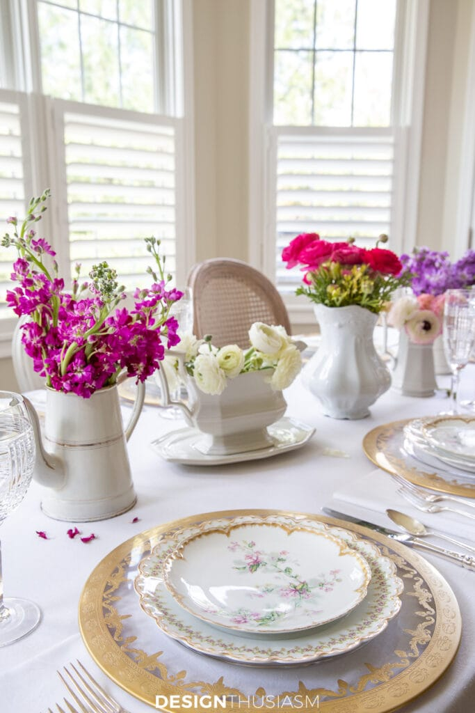 Mother's Day celebration flowers on the table