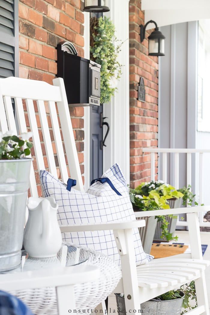Spring Porch Decor from On Sutton Place