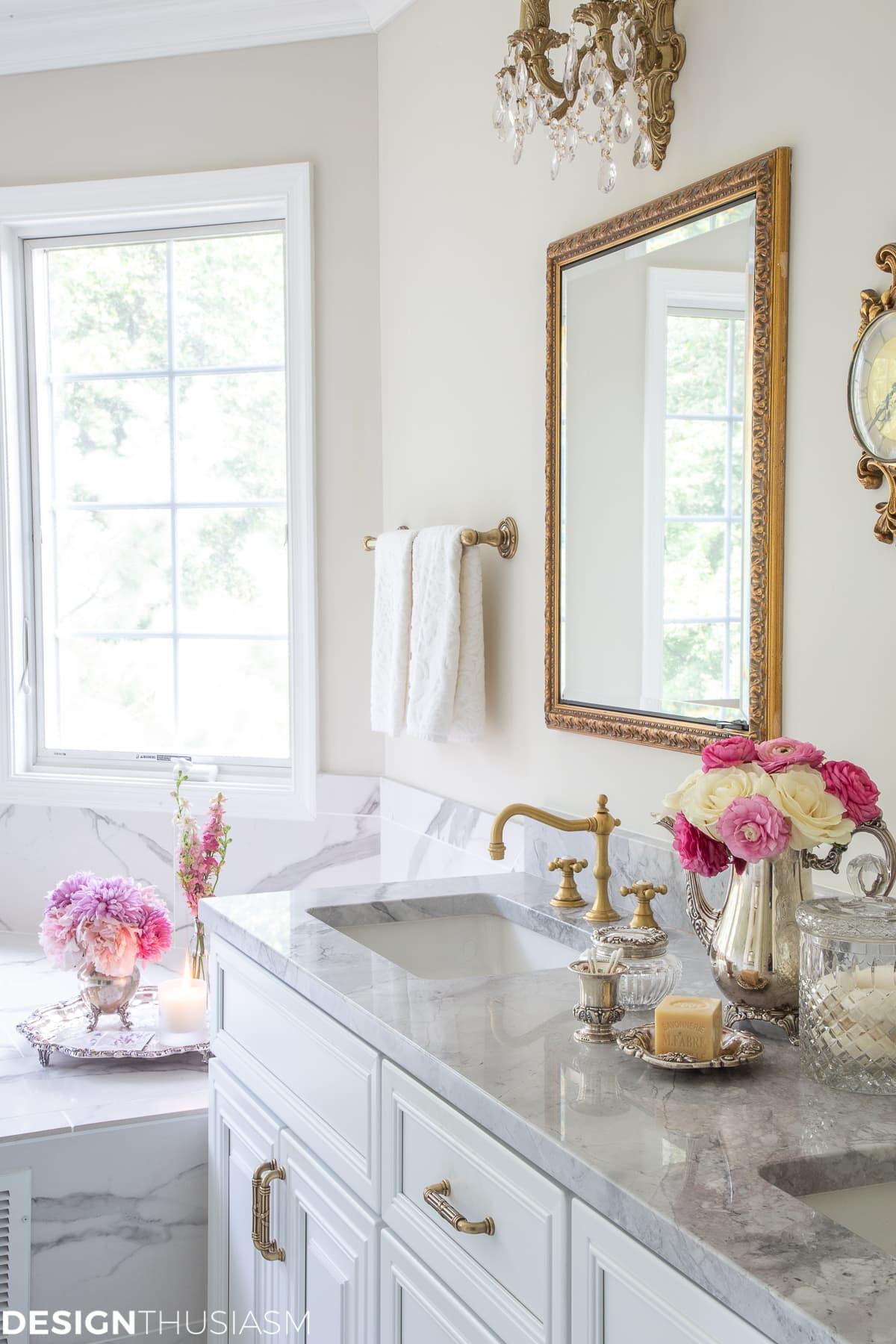 luxury living marble bathroom