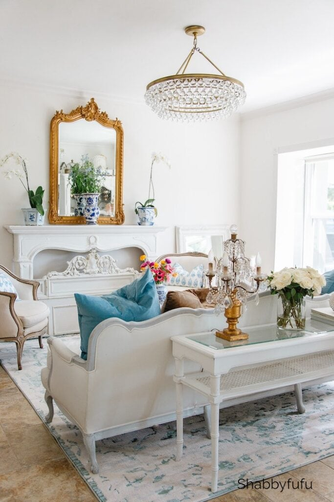 shabbyfufu - spring living room and styling tips