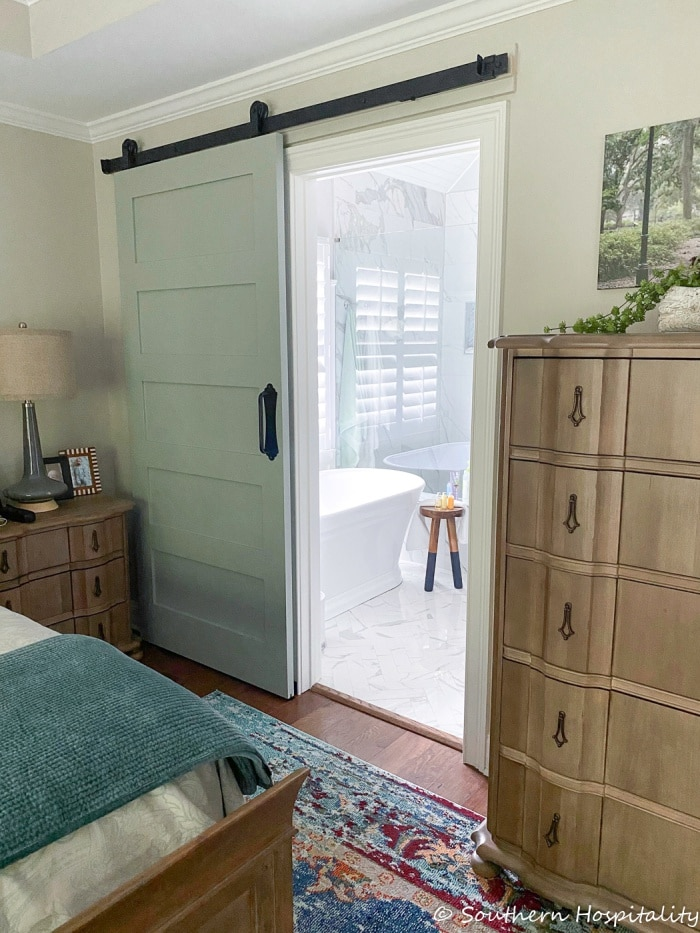 Adding sliding barn door to bathroomSH