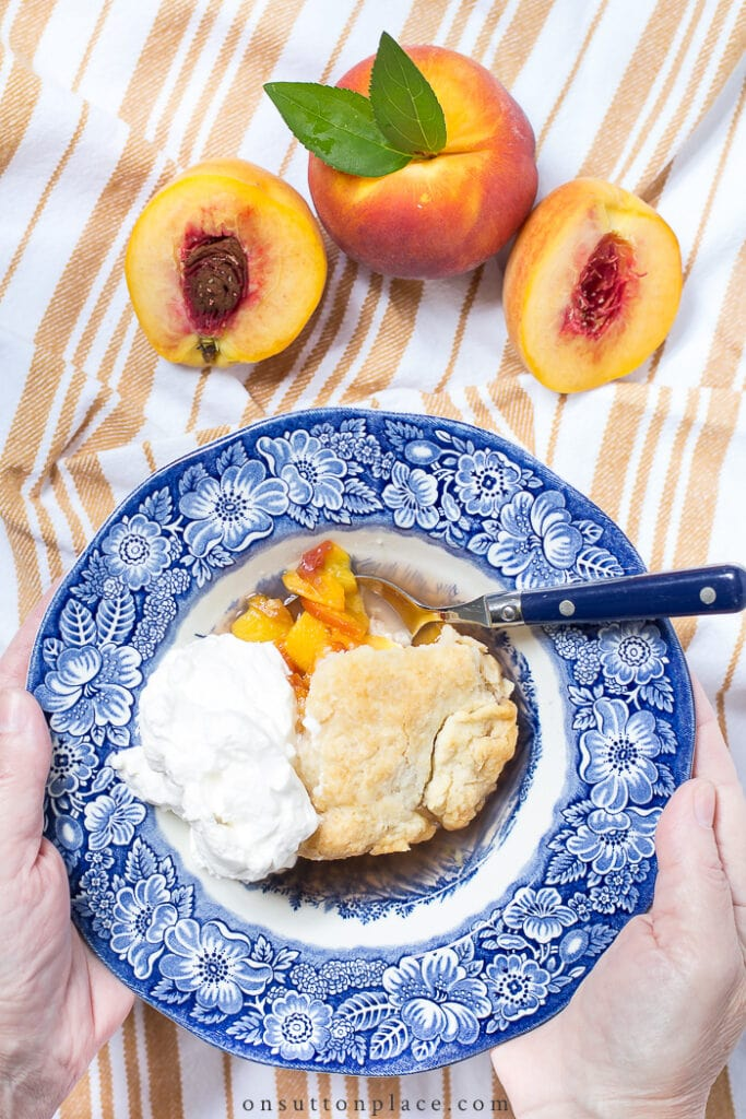 Peach Cobbler Recipe from On Sutton Place