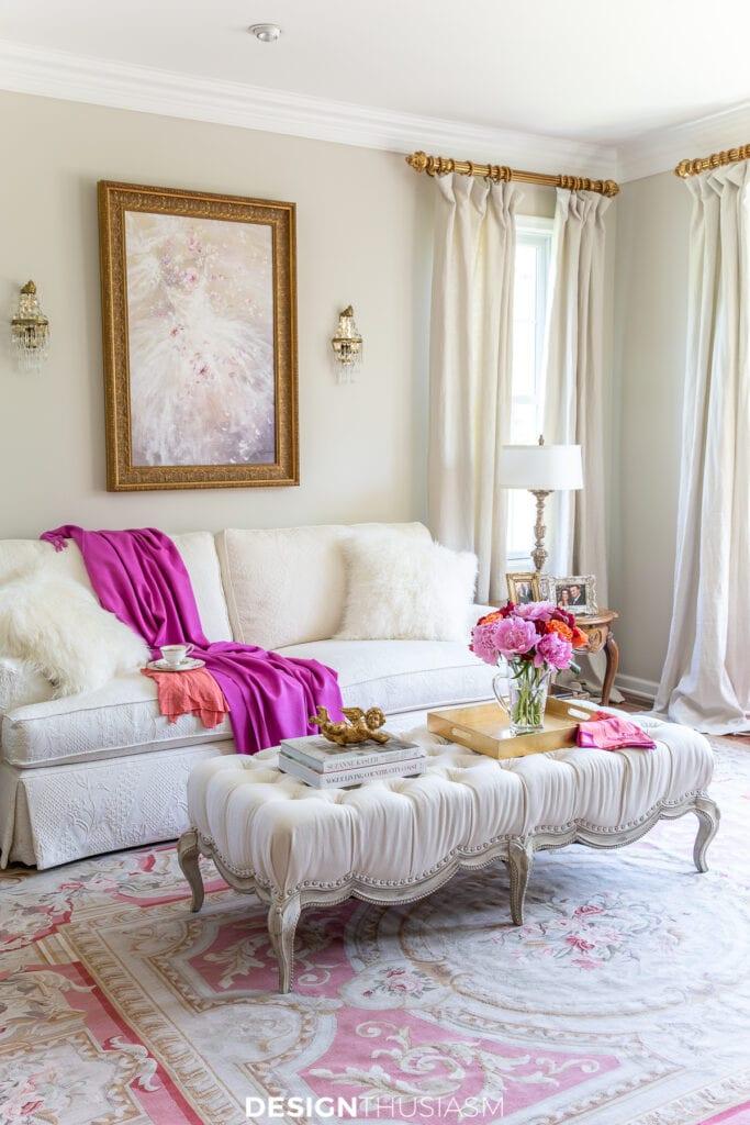 summer decorating living room