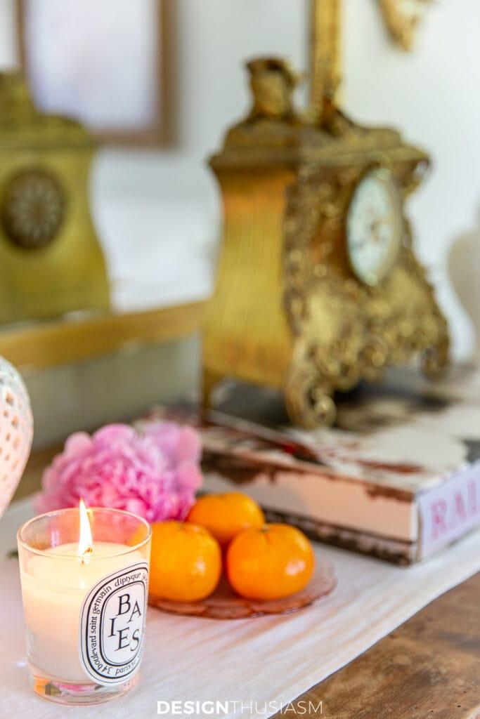 summer decorating with citrus