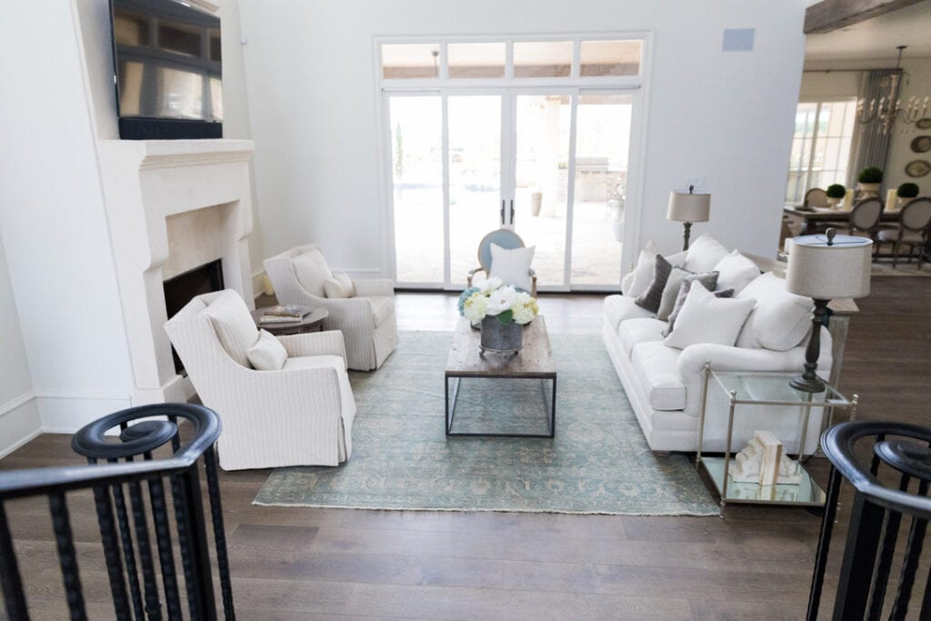 rustic chic house tour living room