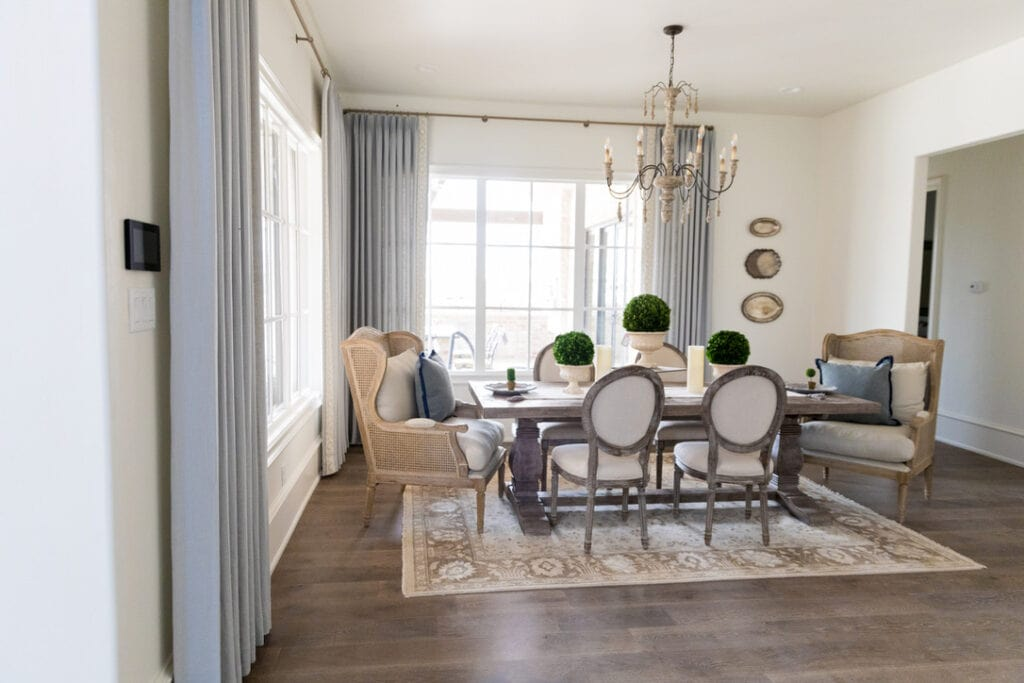 rustic chic house tour dining room