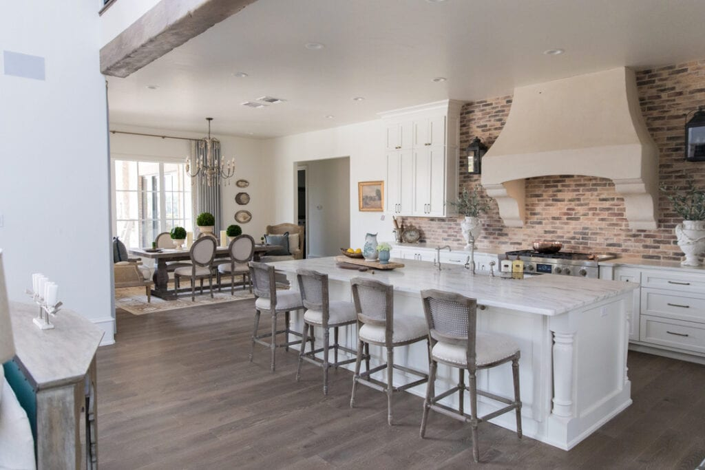 rustic chic house tour kitchen