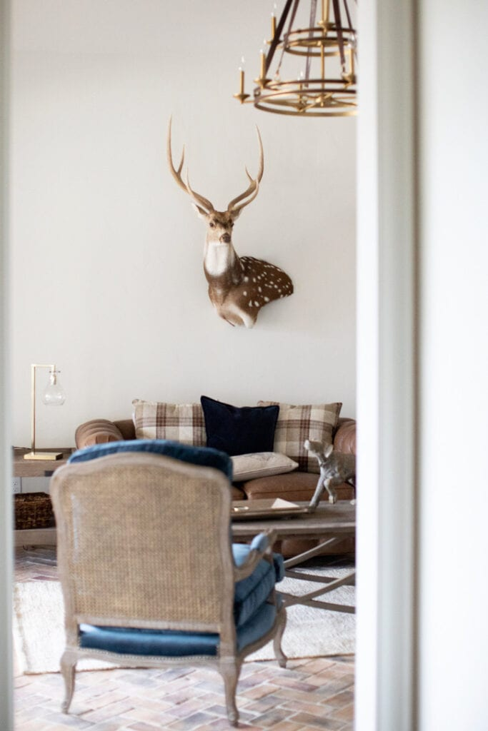 rustic chic house tour family room