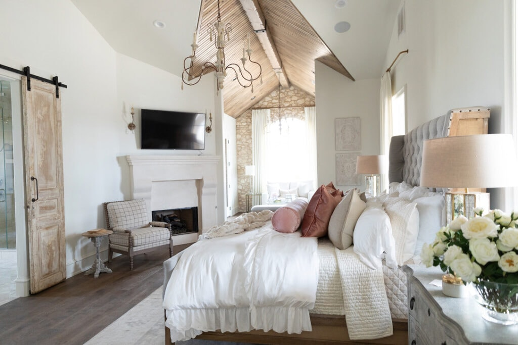 rustic chic house tour master suite