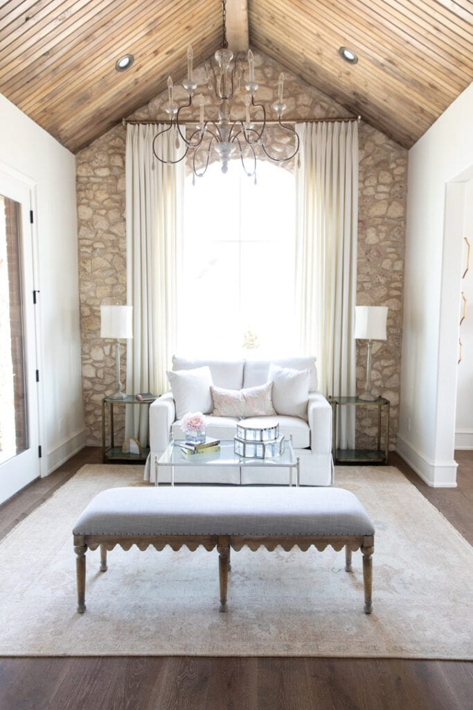 rustic chic house tour sitting rooom