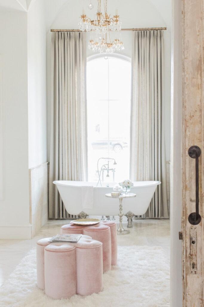 rustic chic house tour master bath