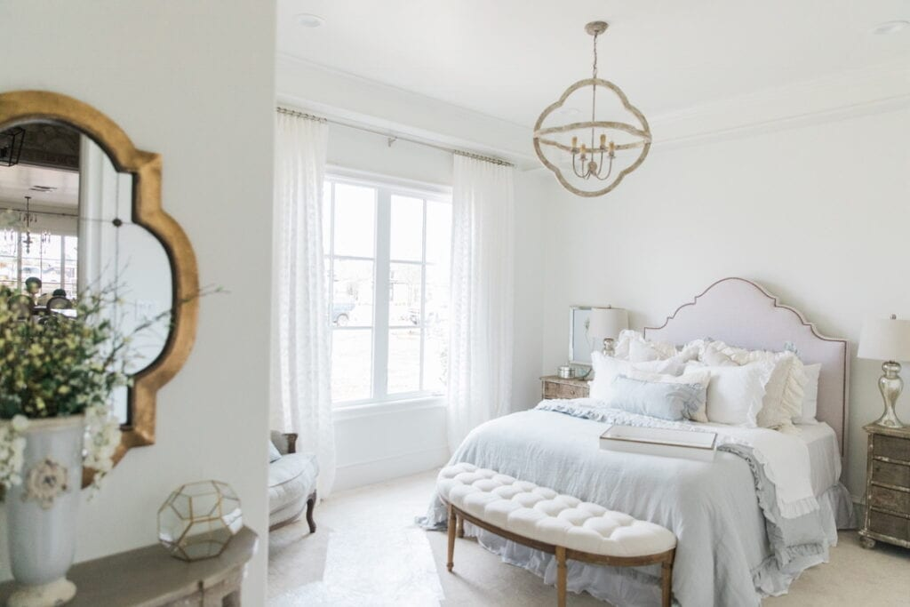 rustic chic house tour guest room