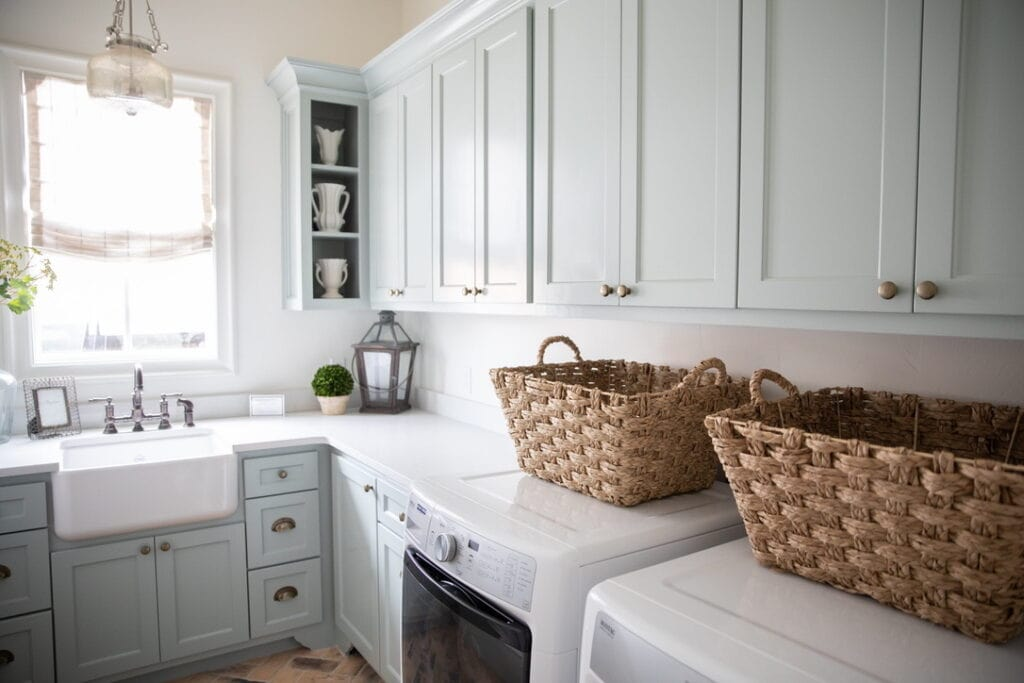 rustic chic house tour laundry