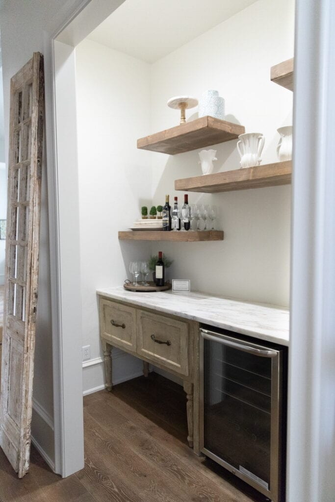 rustic chic house tour pantry