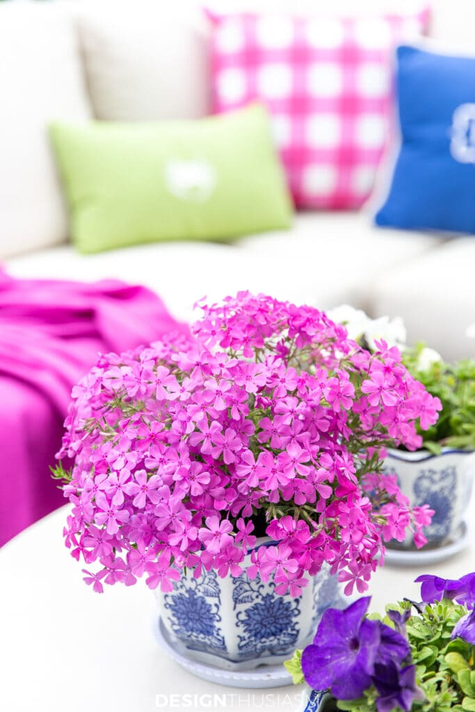 patio decor flower pots