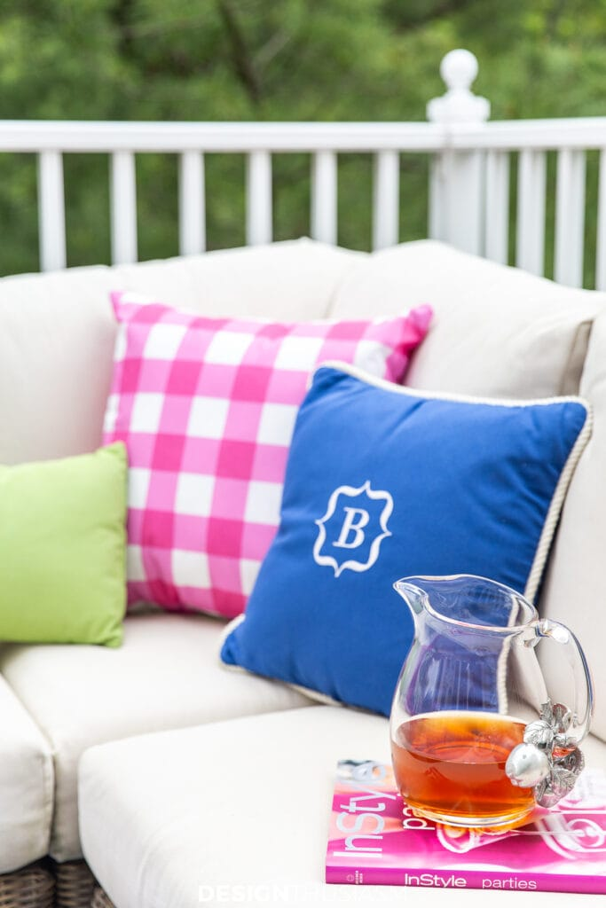 patio decor pillows