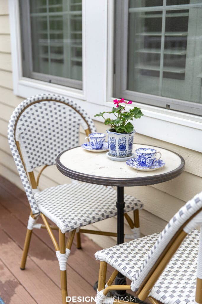 patio decor bistro table