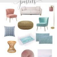 summer decor in mid-century pastels
