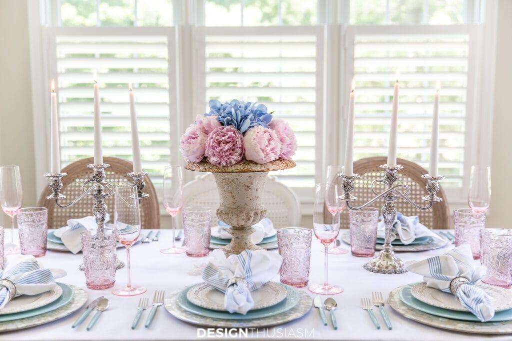 retro summer table setting