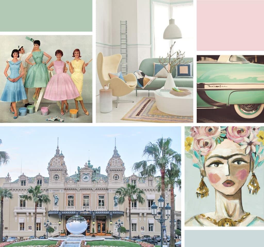 mid-century Monte Carlo color palette