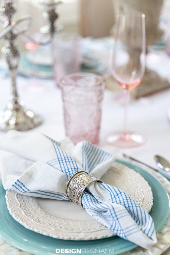 retro summer table plaid napkins