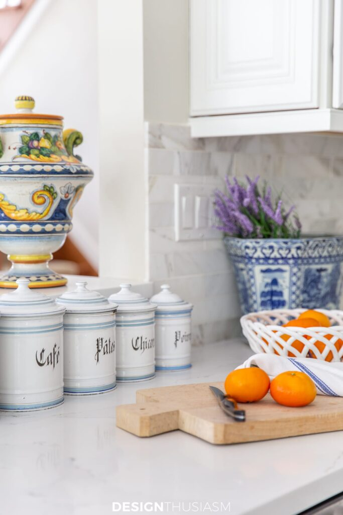 summer kitchen decor vintage canisters