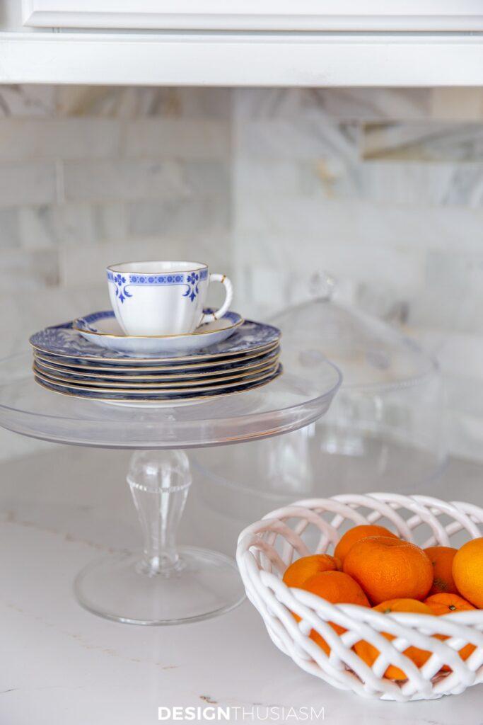 summer kitchen decor dessert plates