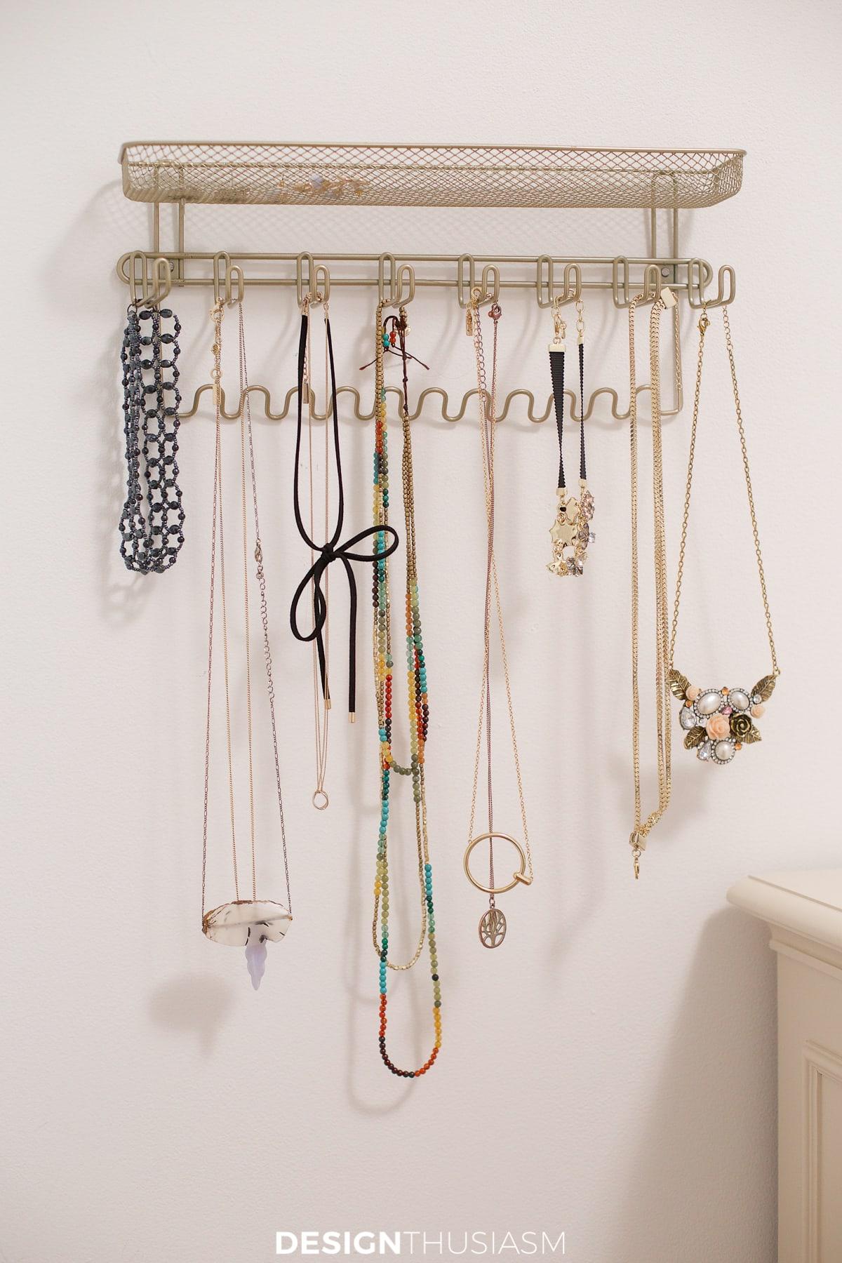 tiny bedroom ideas jewelry rack